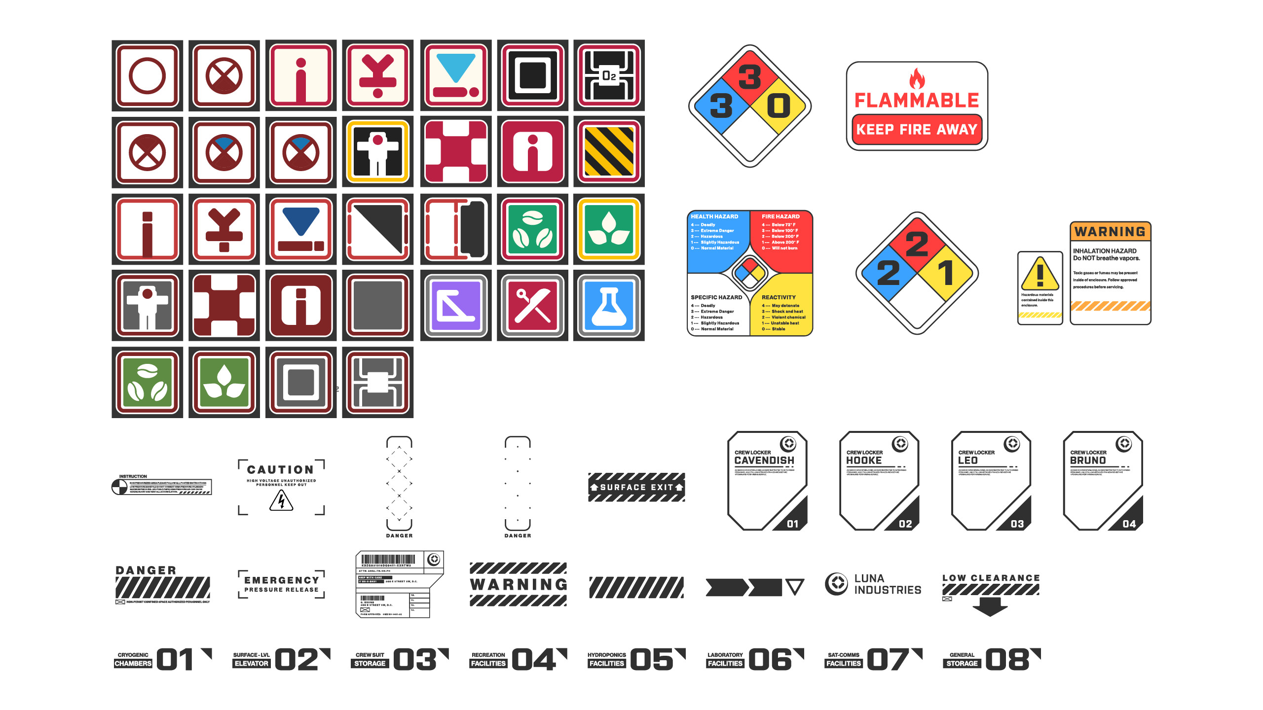 Miscellaneous decals.