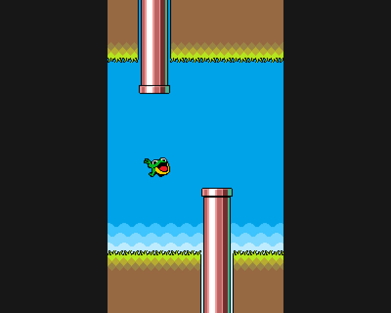 Mock-up of the Flappy Froggy game (2014)
