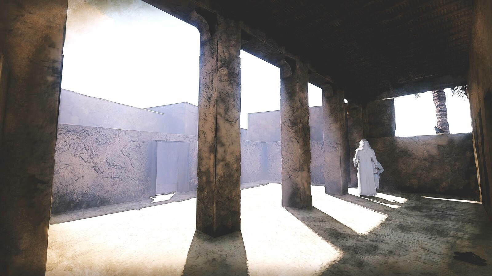 Al Midfa Mosque (Sharjah, U.A.E) - Virtual Reconstruction