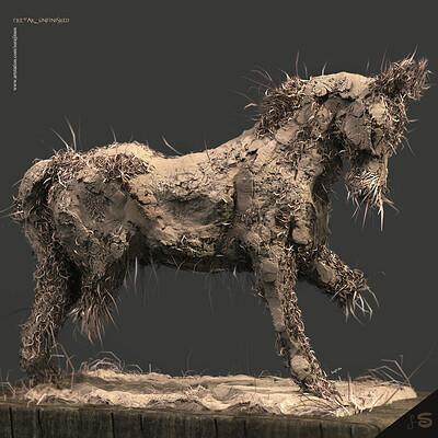 Surajit sen chetak unfinished digital sculpture surajitsen april2020a