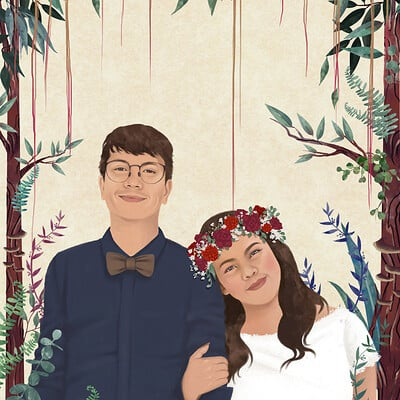 Rye adriano aubrye wedding illustration 01