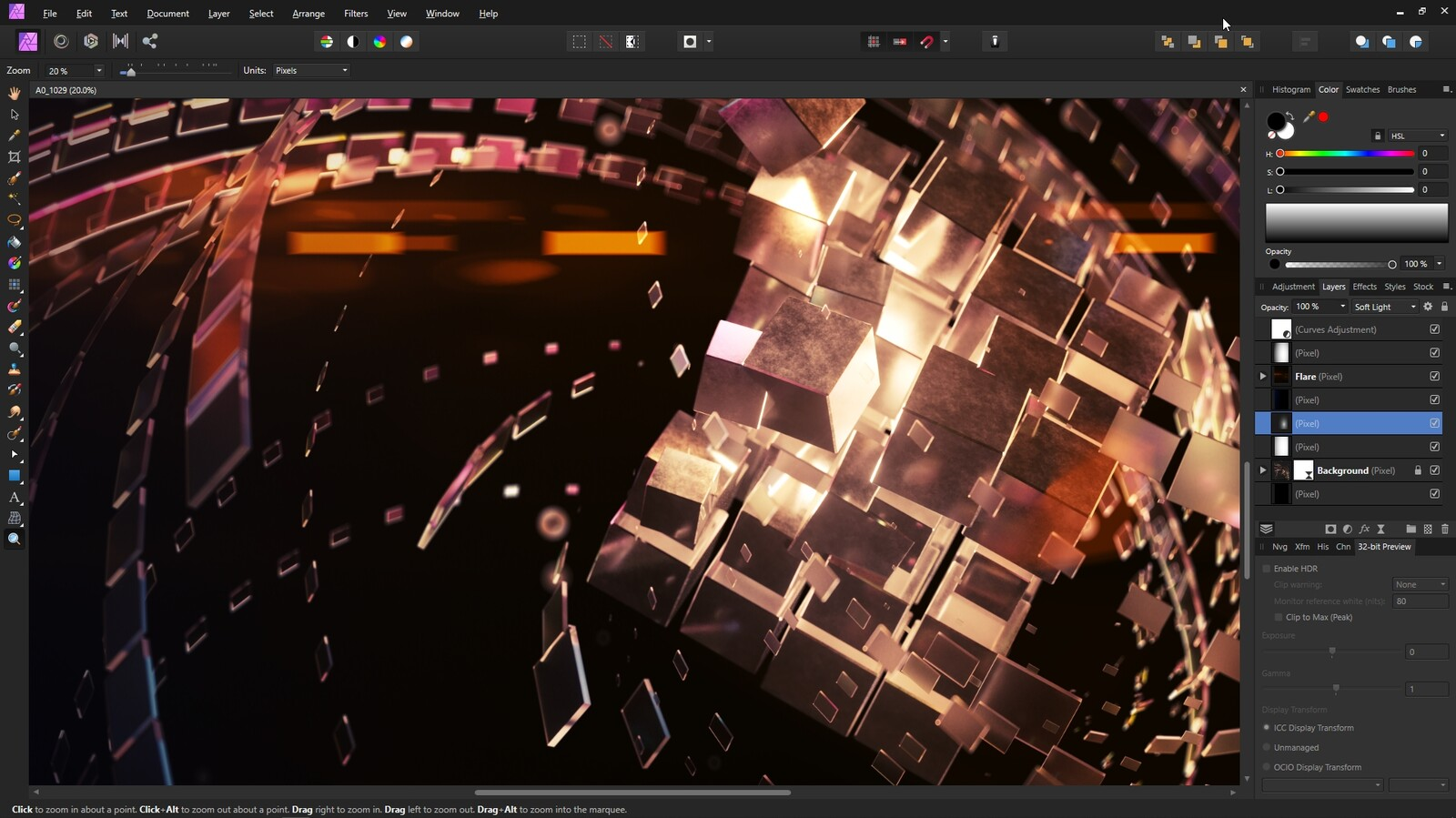Editing in Affinity Photo
