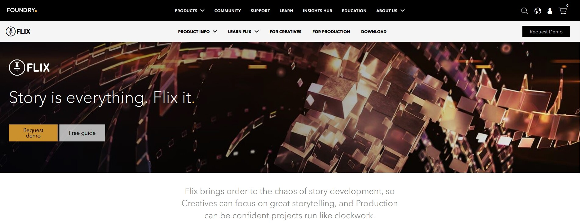 Foundry website with the image.