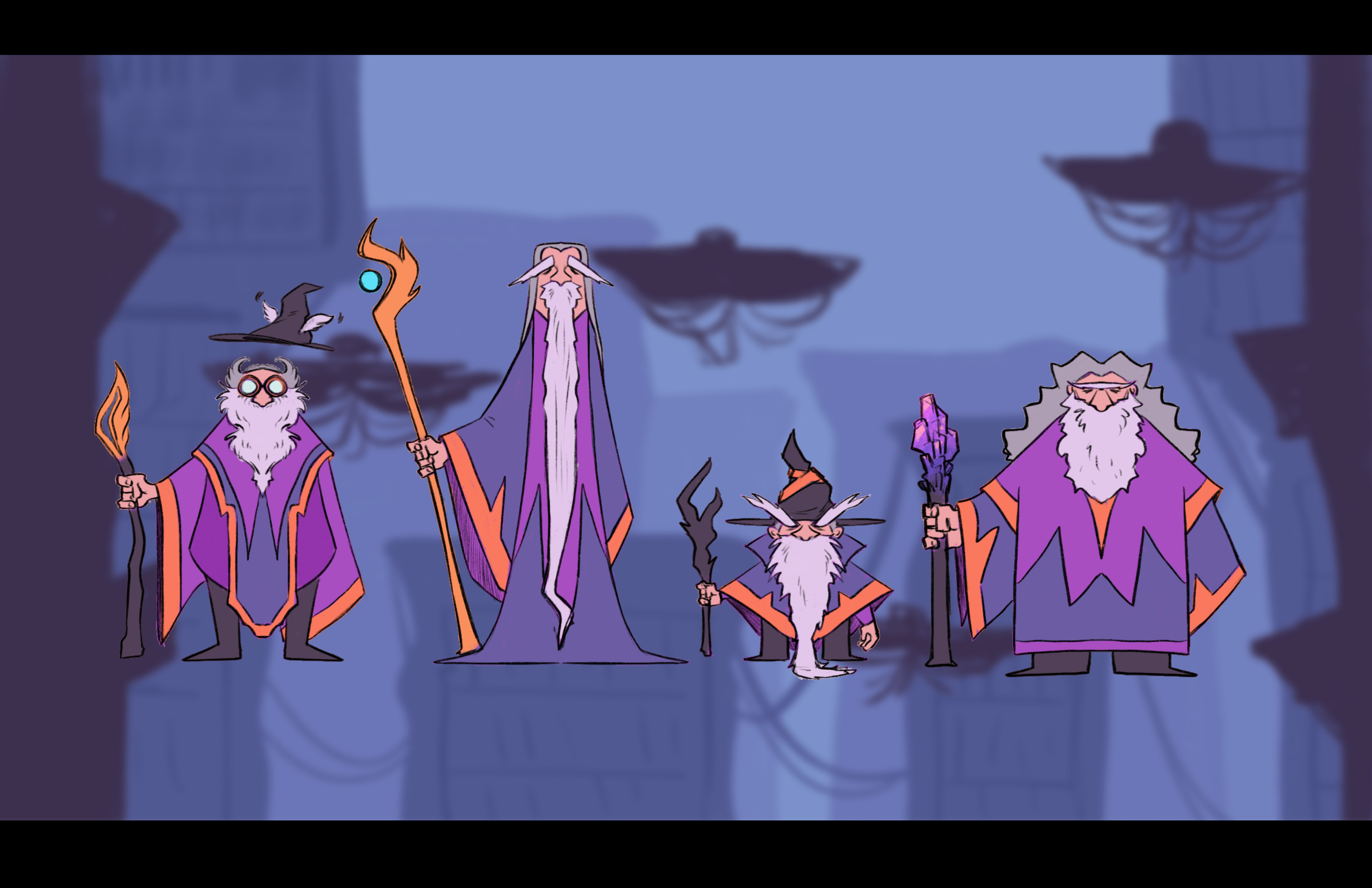 Characters in the rough level layout