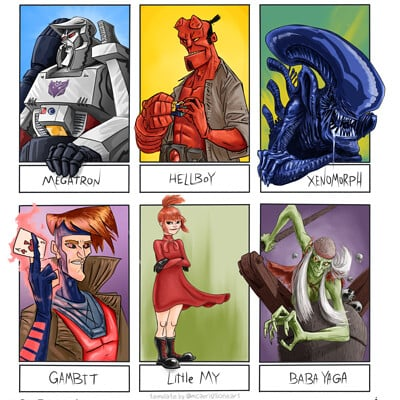 Amir dror give me six characters to make fanart of by stitchpunkstudios ddu3kvd pre