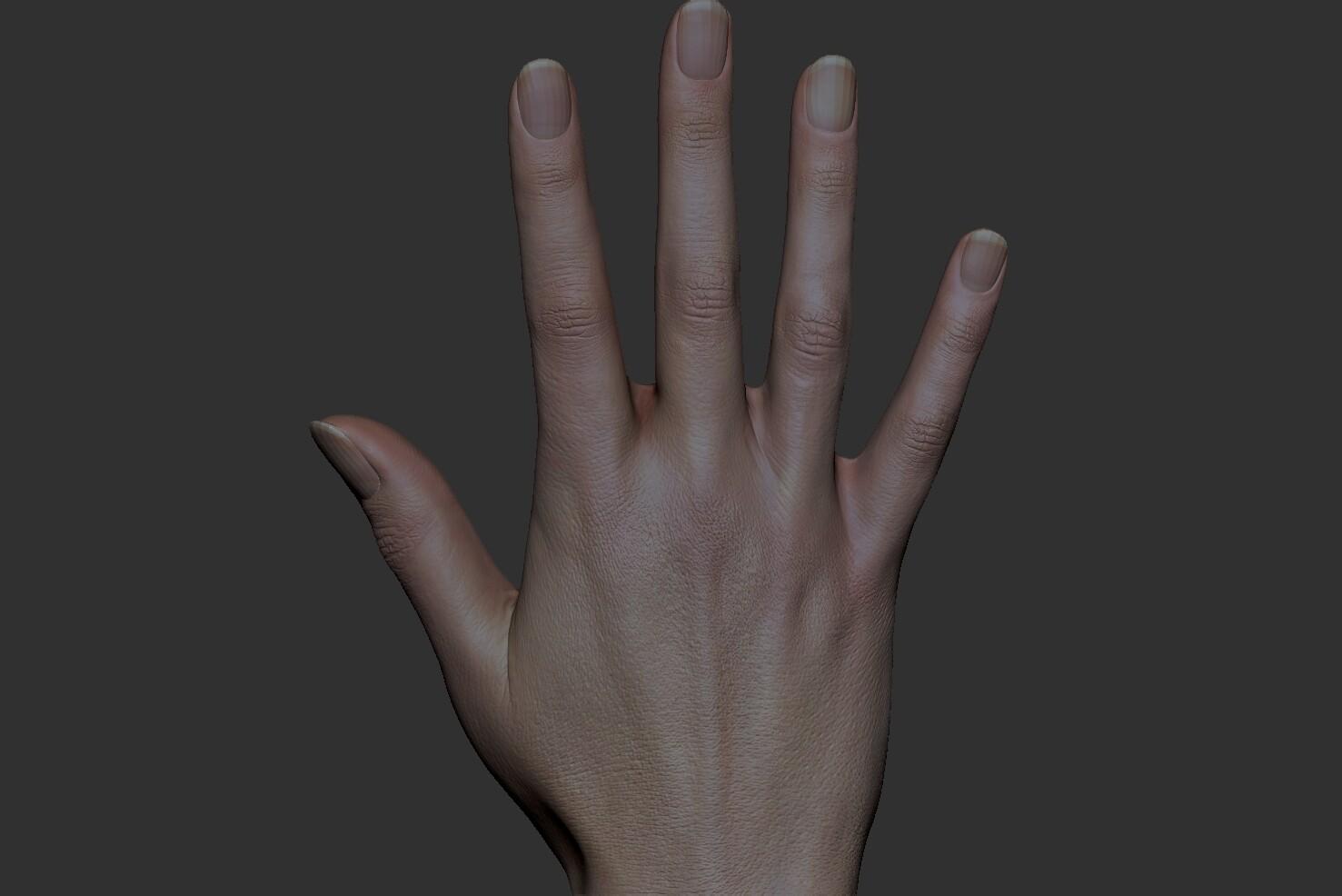 xyz textures 20's female hand