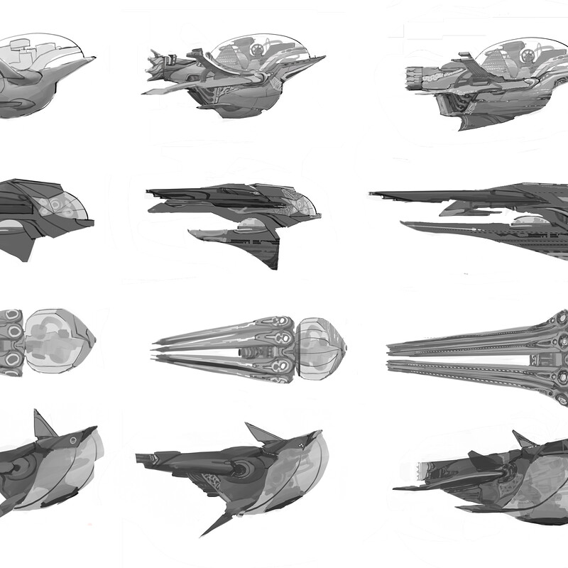 The Supernova - spaceship sketches