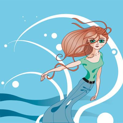 Steven klock wind woman wave