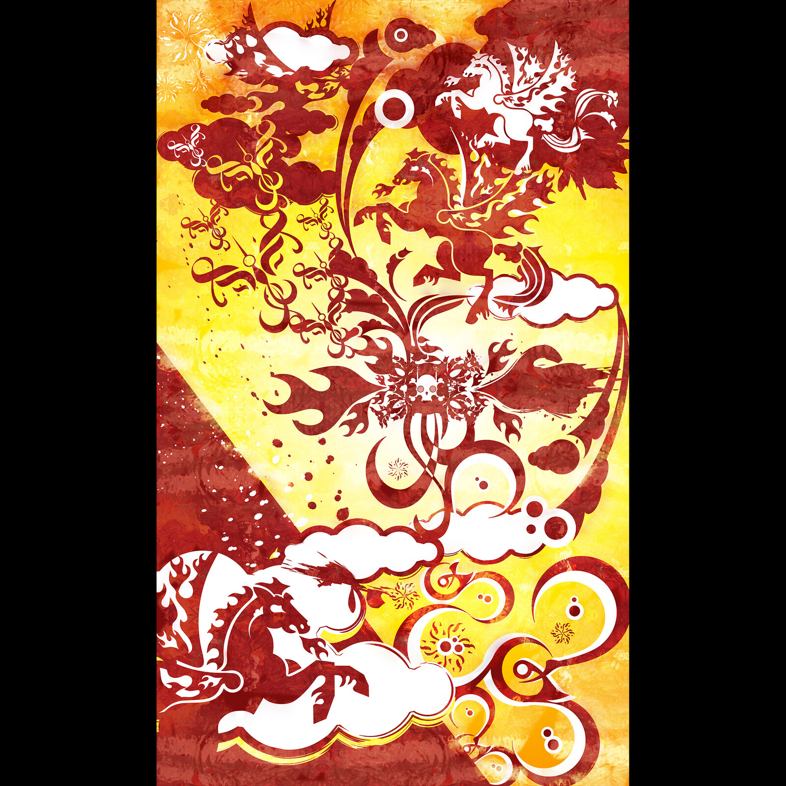 pegasus graphic illustration