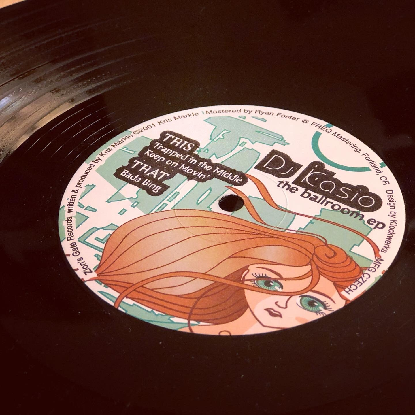 printed record label side b