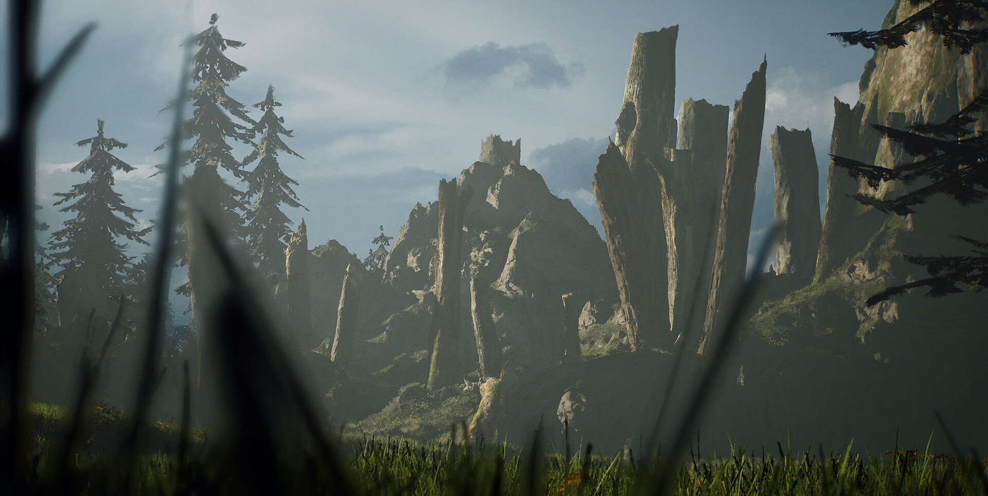 Screenshot from landscape before turning into scene