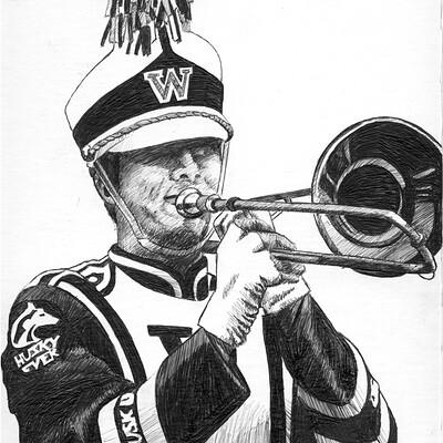 Steven klock marching band1