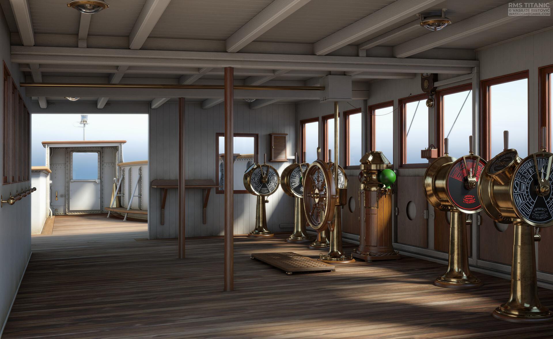 Montage Titanic Trumpeter 1/200 - Page 10 Vasilije-ristovic-titanic-s-navigation-bridge