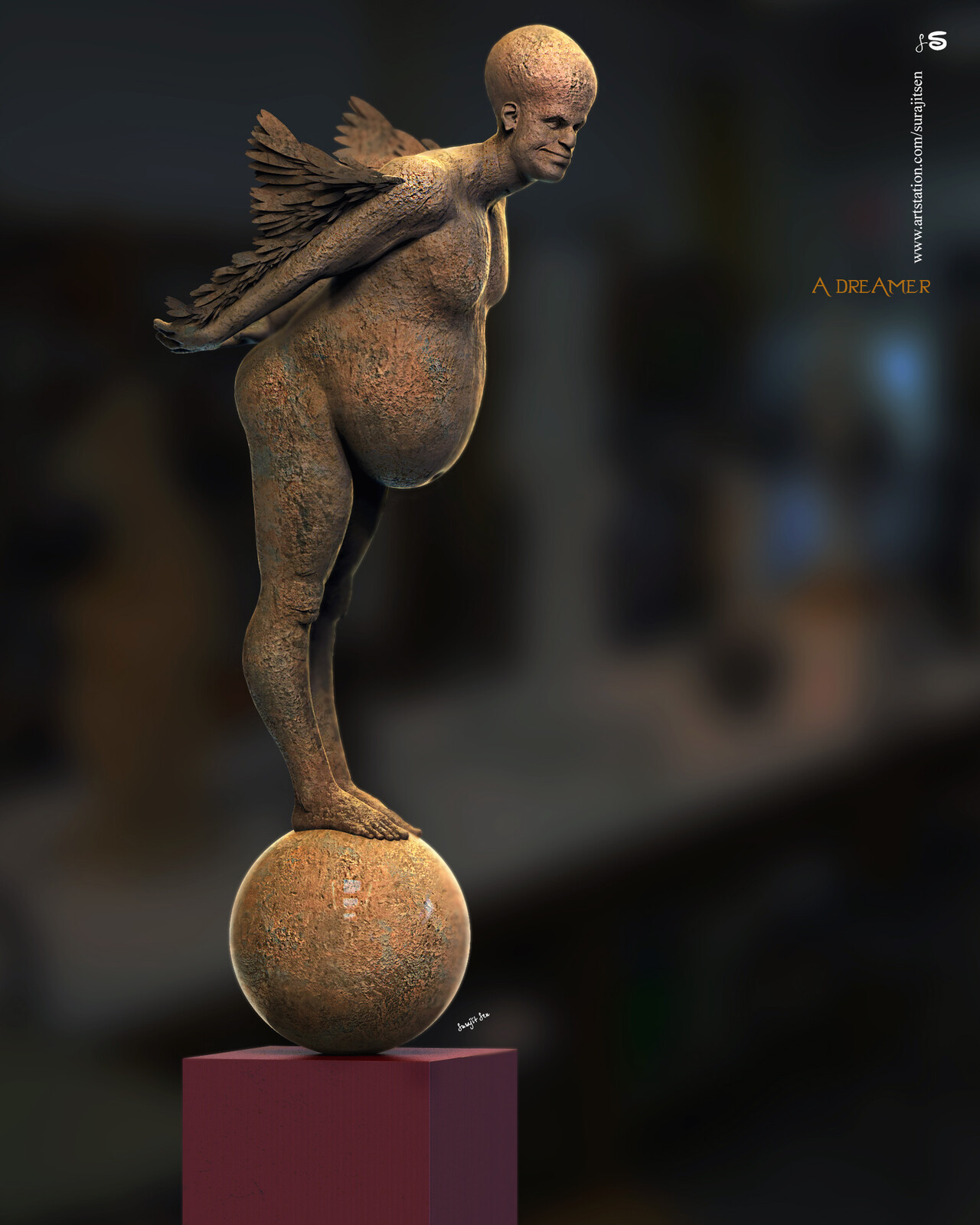 A Dreamer Digital Sculpture. My thoughts.... Background music- #hanszimmermusic