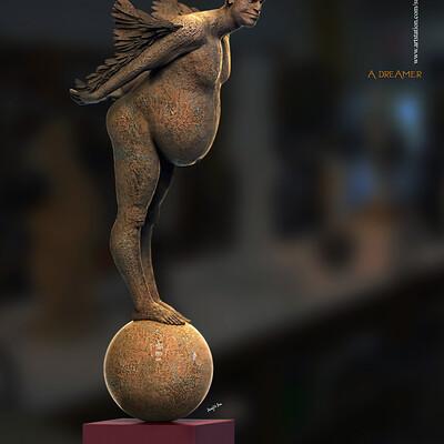 Surajit sen a dreamer digital sculpture surajitsen april2020 copy