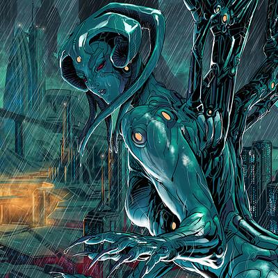 Atom cyber deadlife city of eternal rain full view clow