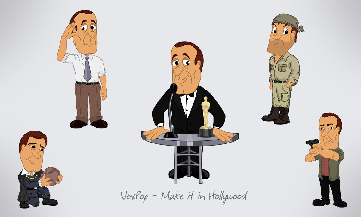 Actor, make it at Hollywood. 20 concepts