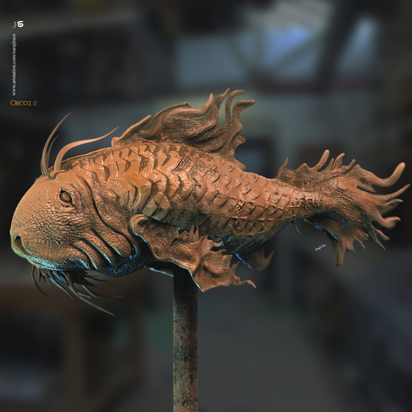 Orco2.0 Digital Sculpture Wish to share  Background music- #hanszimmermusic
