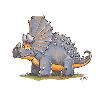 Okan bulbul triceratops 002