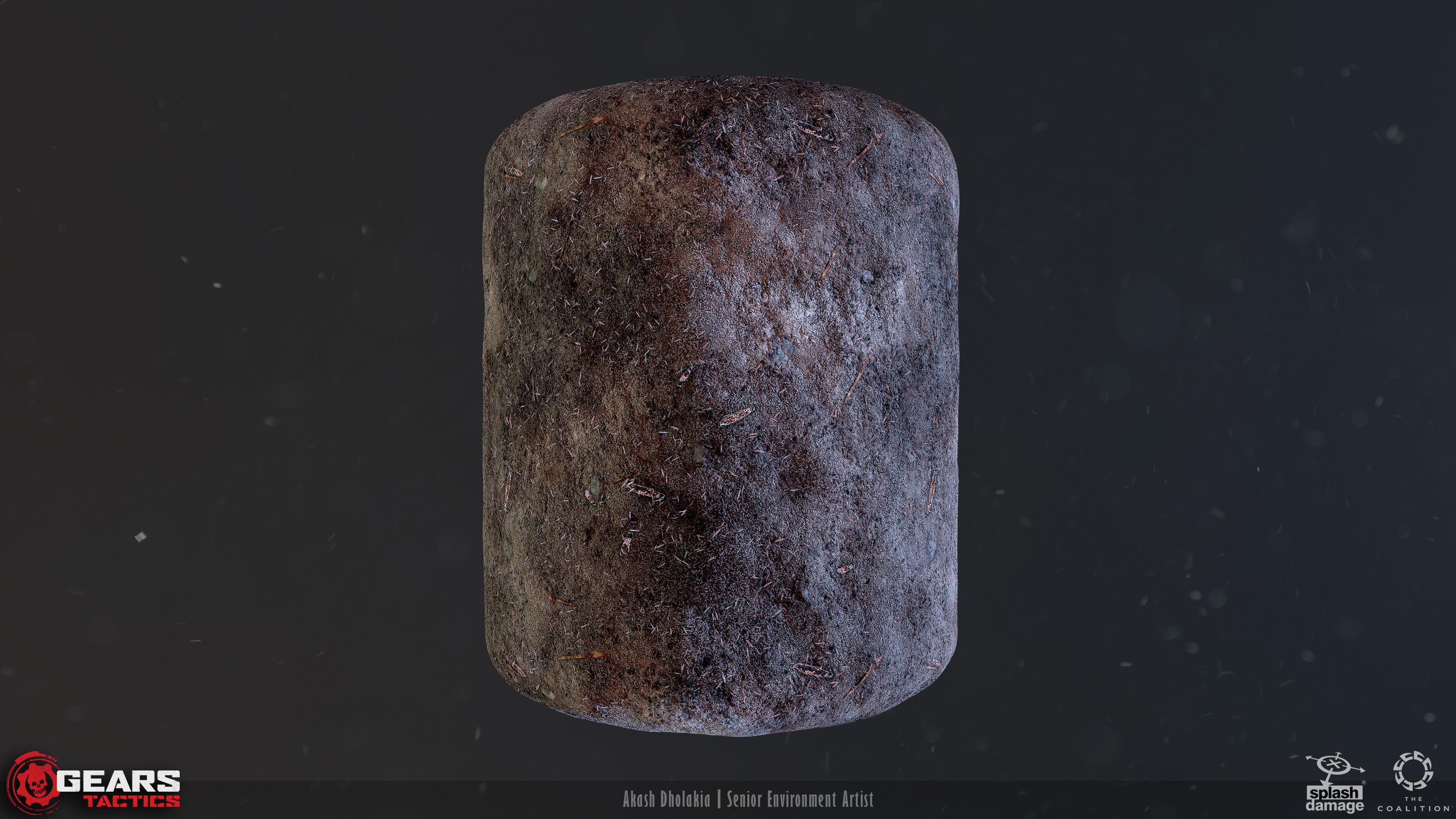 Ash with Debris