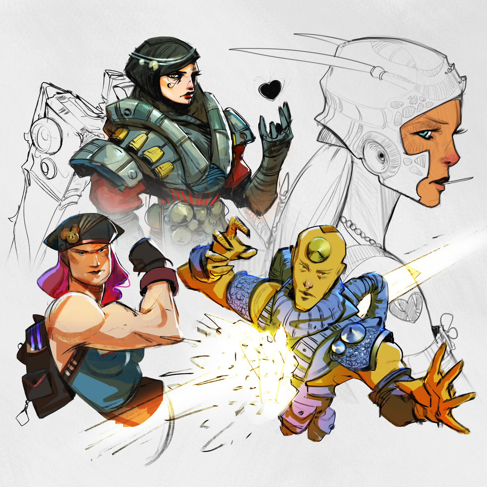 Pharah, and other sketches