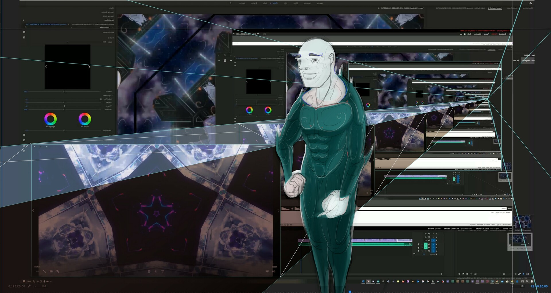 Concept arting: While traveling through Space and Time: WINDOWS into another dimension!