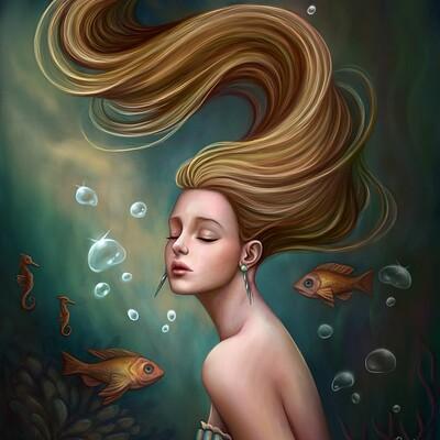 Dimitris karakousis mermaid portrait
