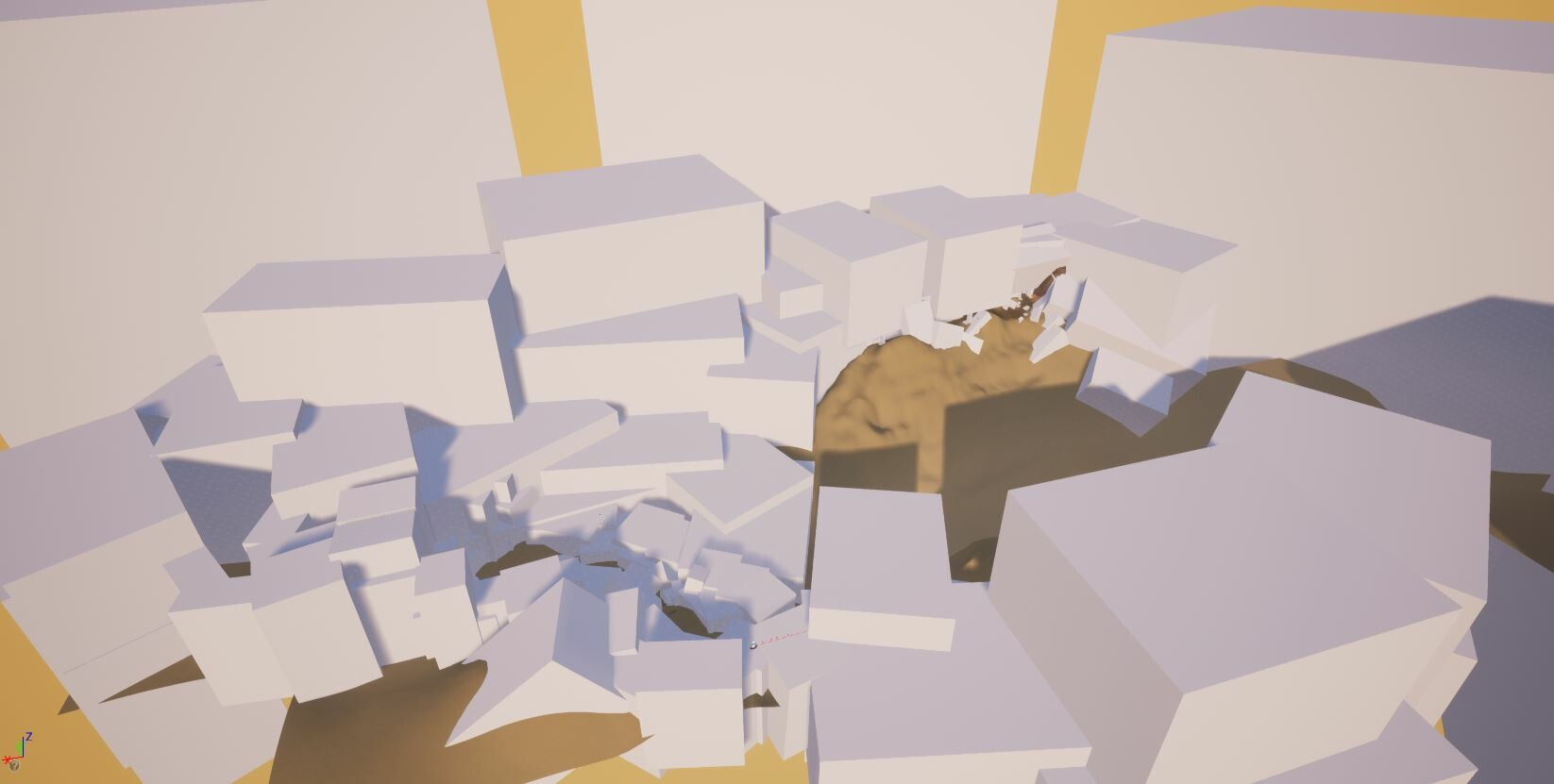 Greybox of the level