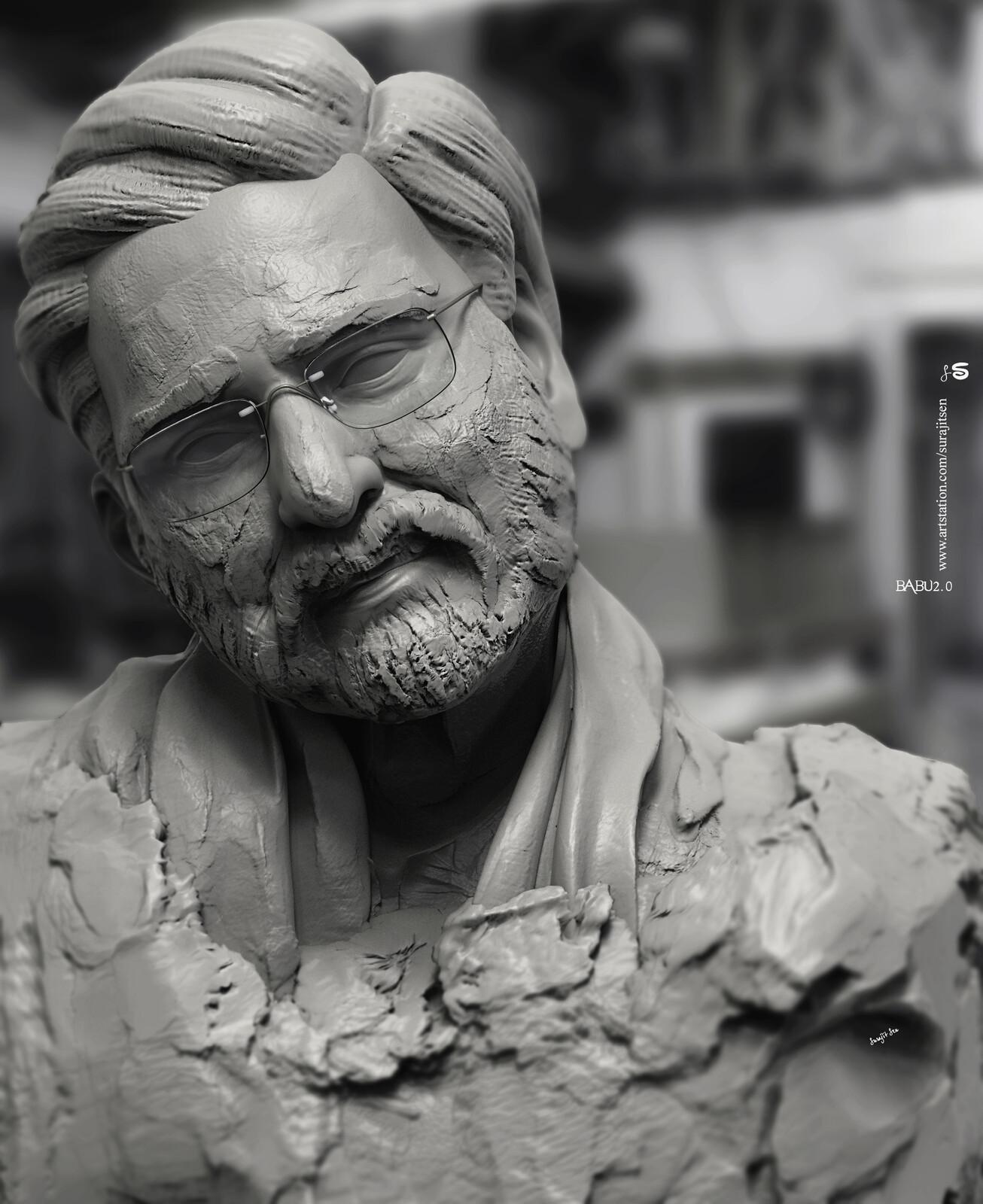 My free time speed Digital Sculpting study... Babu2.0 Background music- #hanszimmermusic