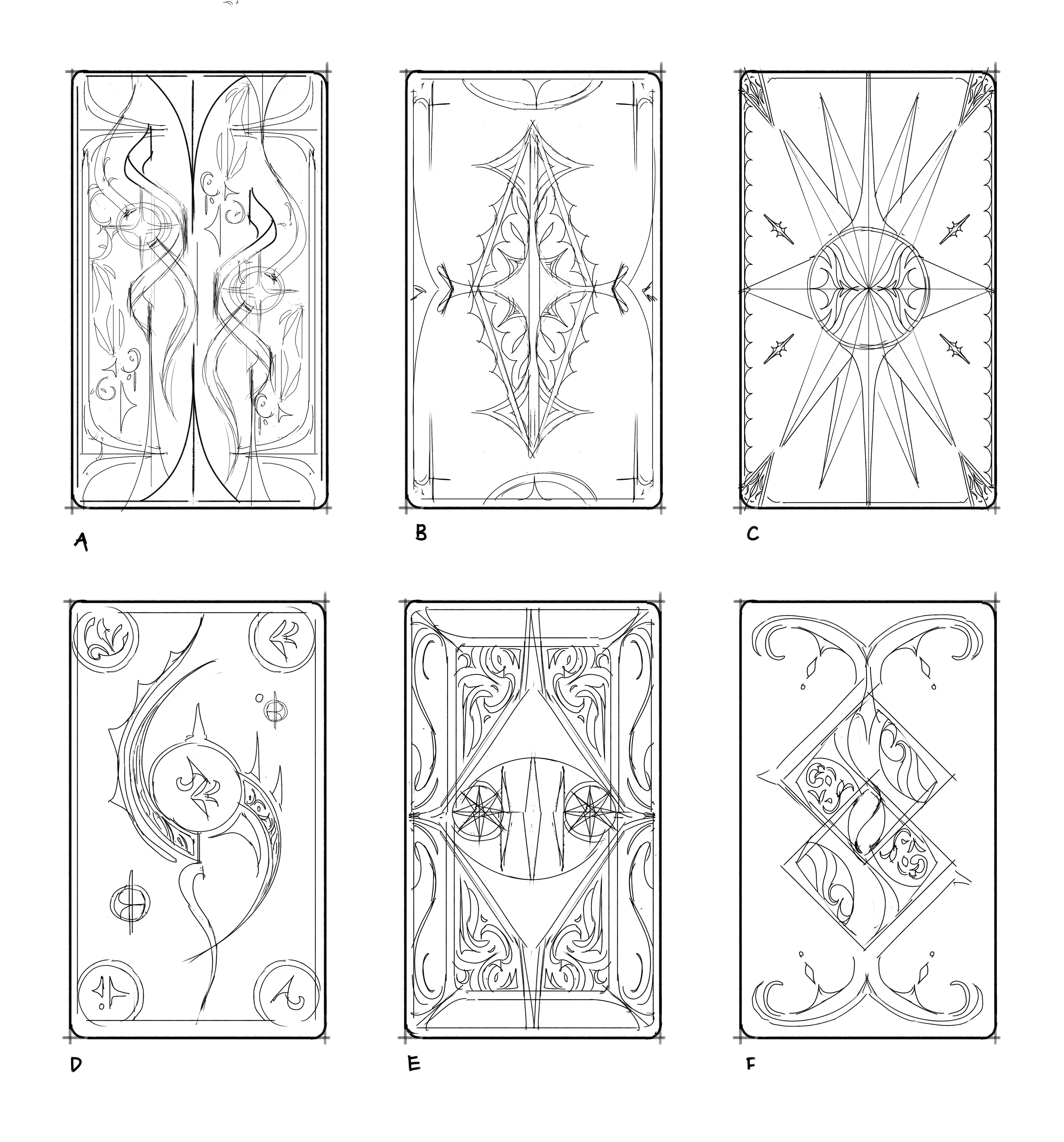 Card back ideations.