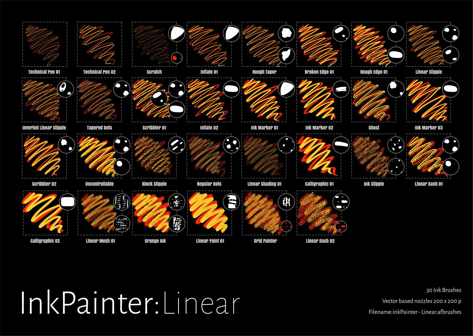 InkPainter Linear Brushes