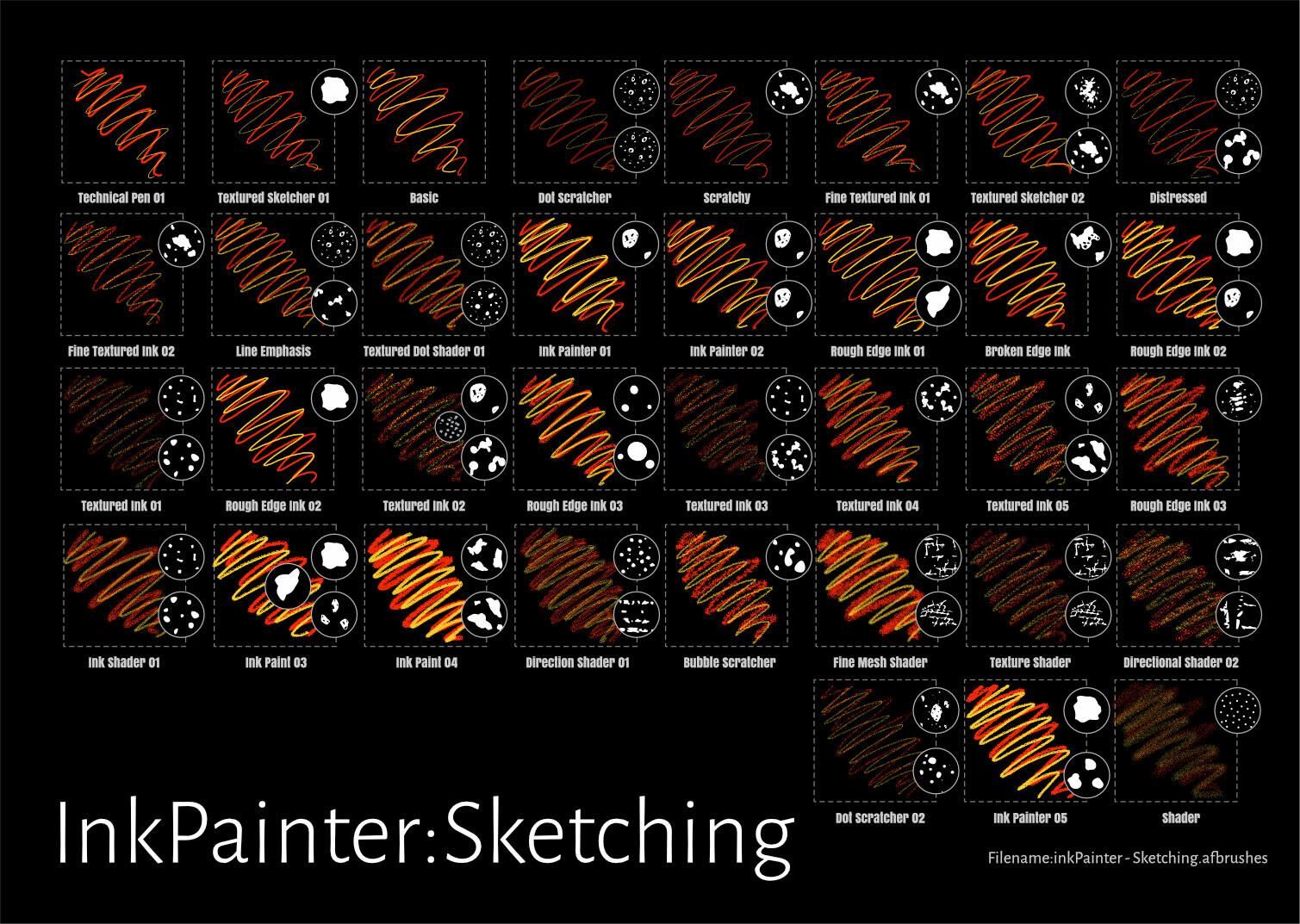 InkPainter Sketching Brushes