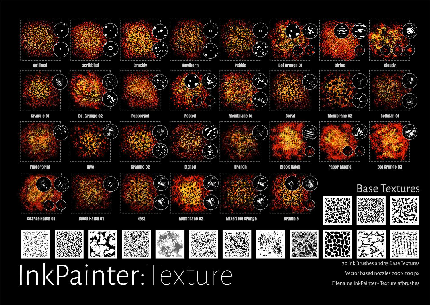 InkPainter Texture Brushes