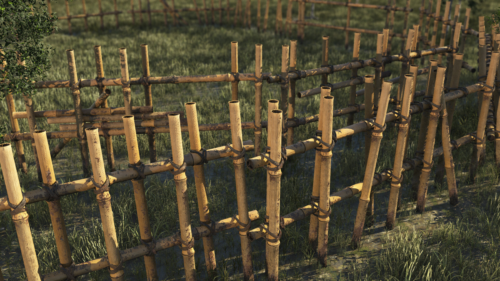 Bamboo Fences: Mud, Rain, Snow