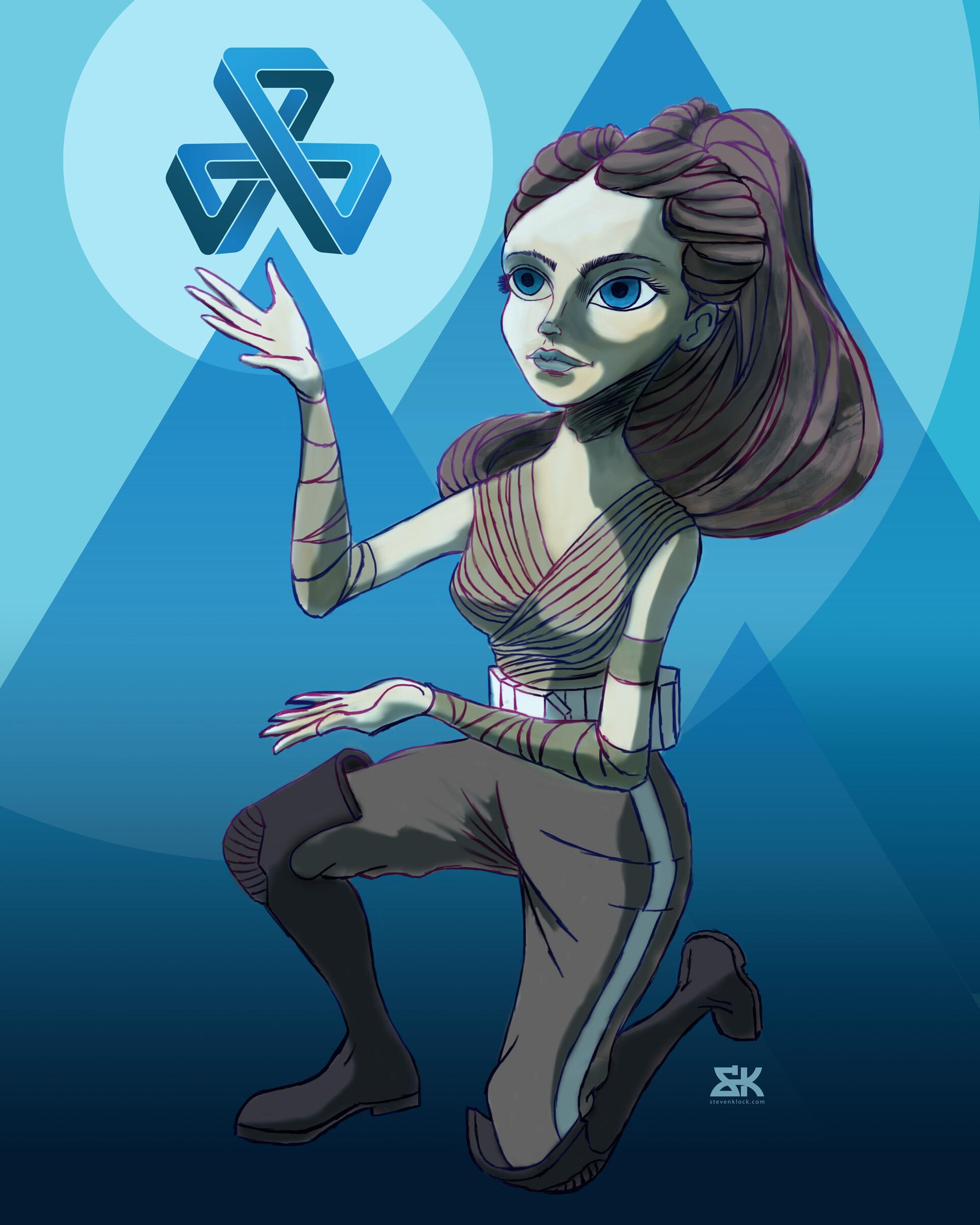 Tri Force Wielding Mobius Girl