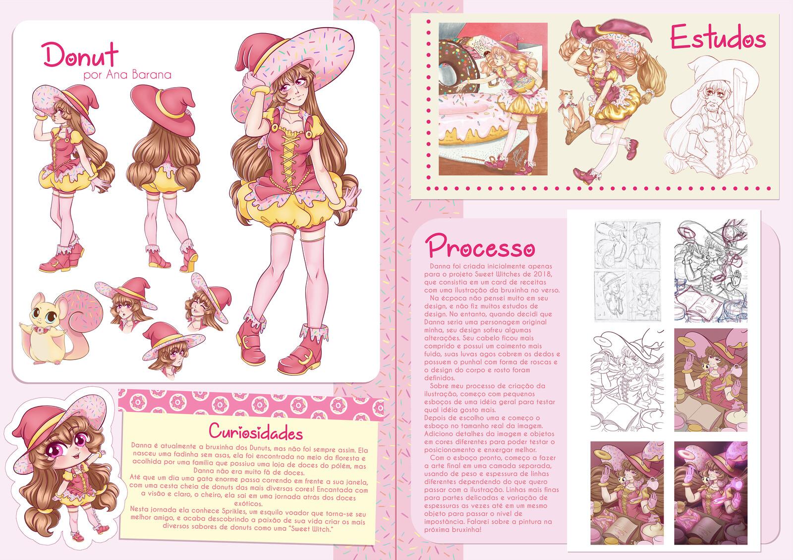 Páginas sobre a bruxinha Danna Donut
