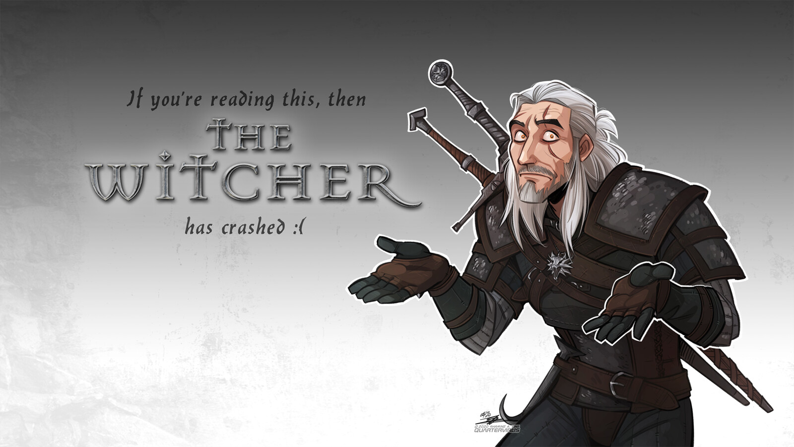 Custom desktop background for my Witcher streams... which, incidentally, happen every weekend at around 2pm Singapore Time! Follow me on Twitch to find out when I go live! https://www.twitch.tv/quartervirus