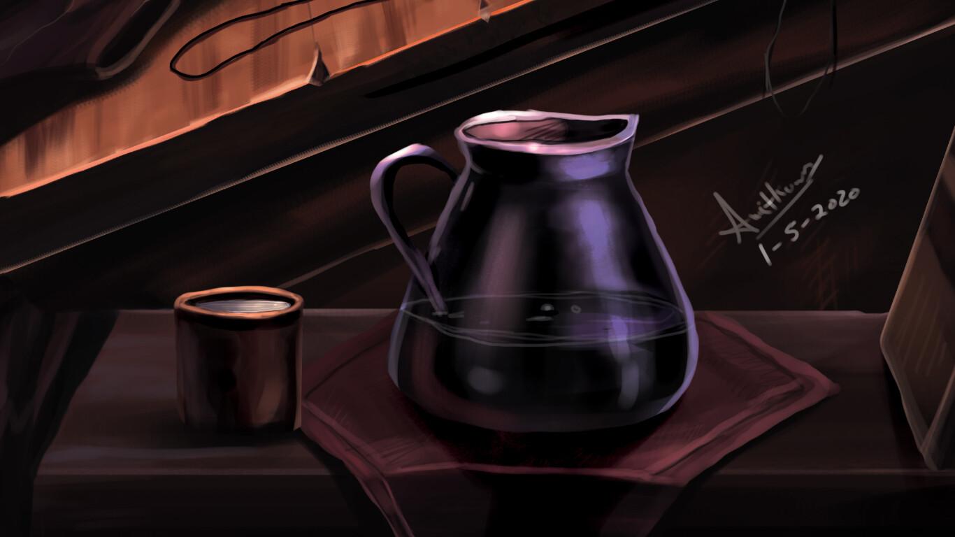 jug and cloth