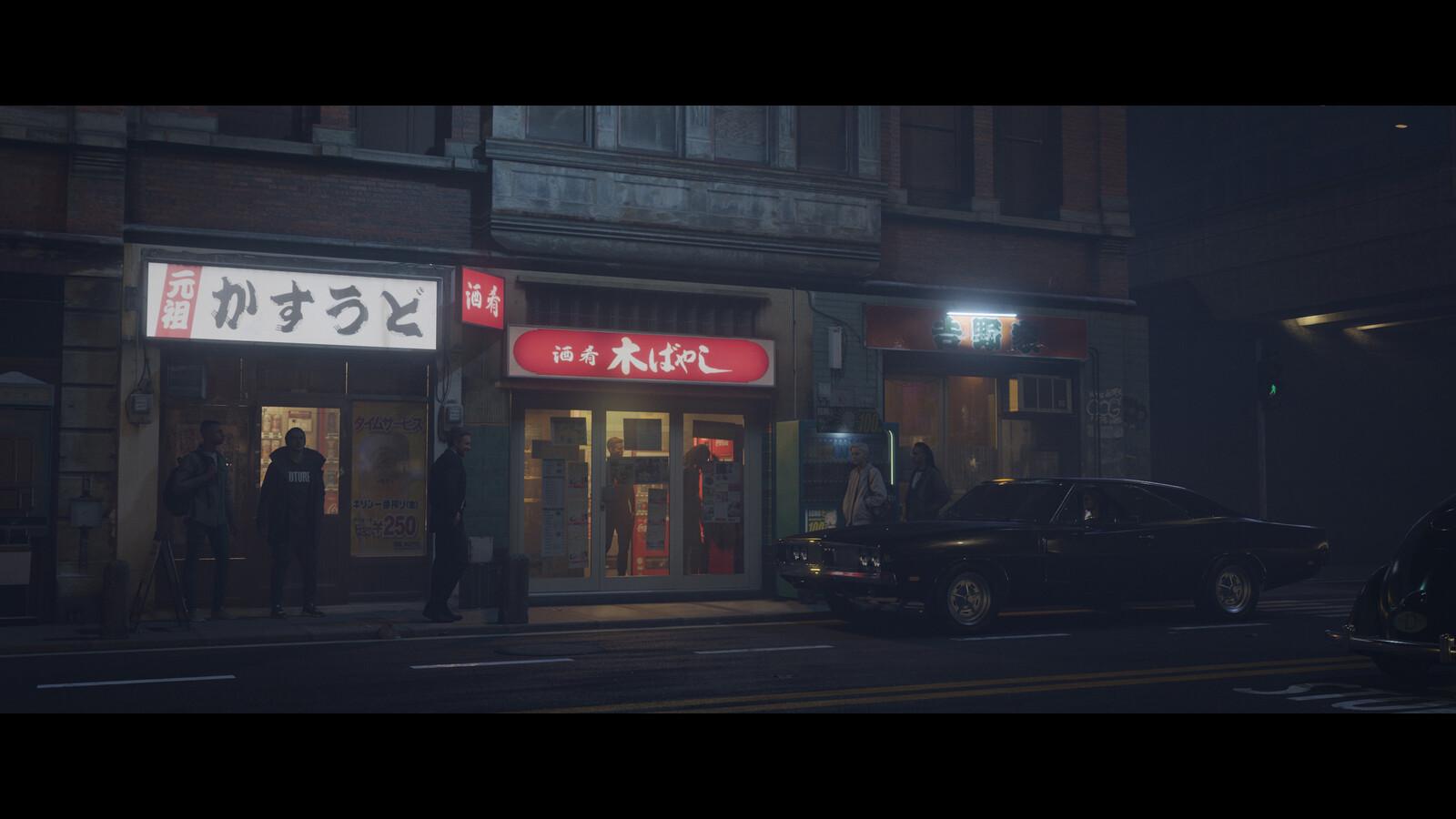 Street Concept in Blender