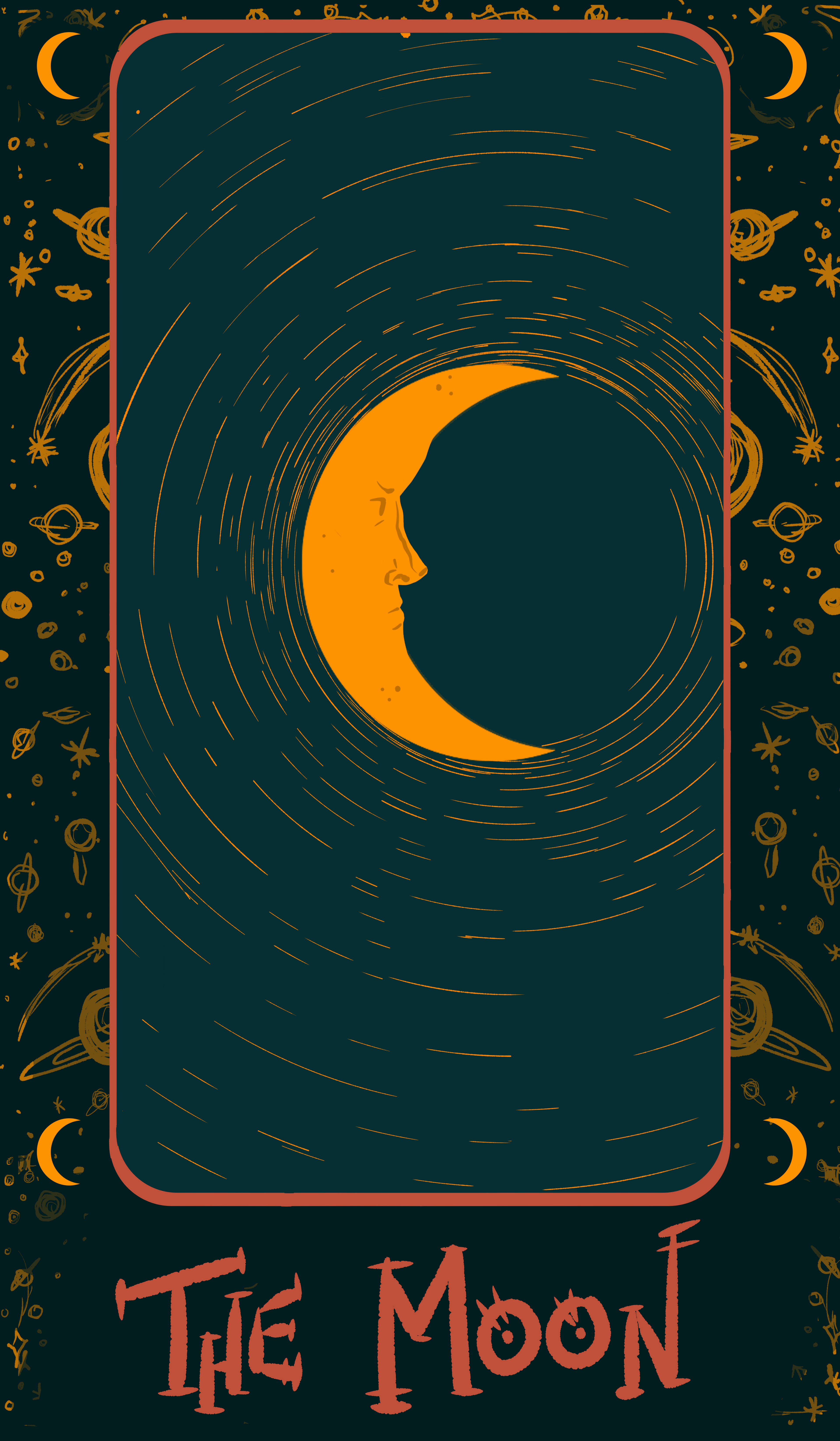 Here's a design I did for a tarot card inspired print. I really like the way this one turned out, honestly.