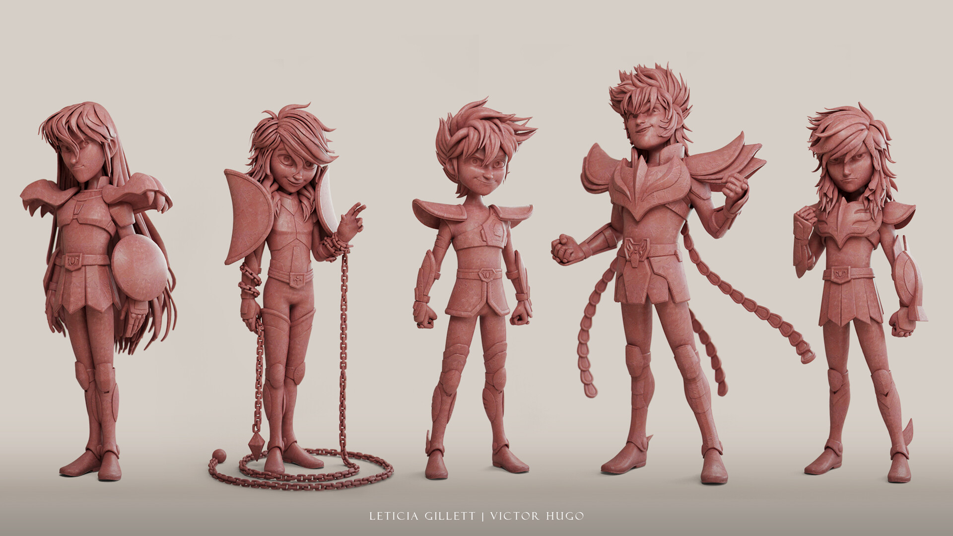 Lineup clay render