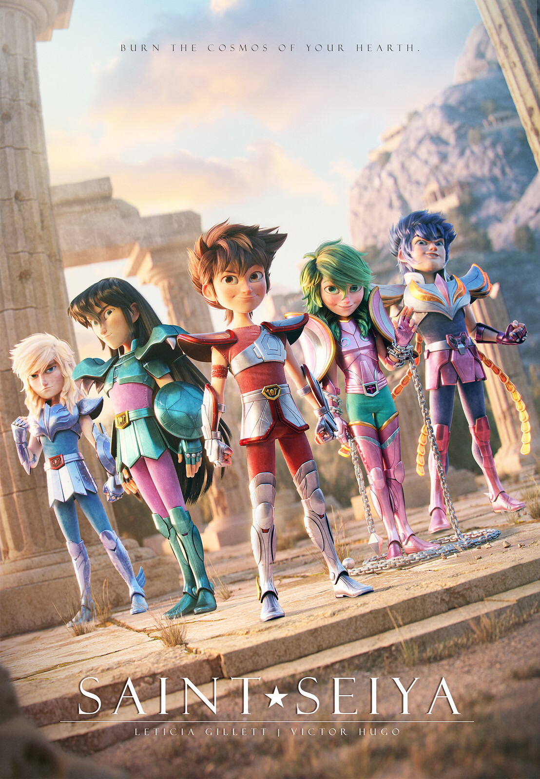 Saint Seiya fan poster
