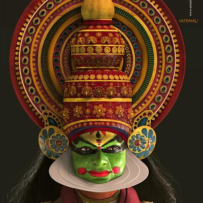 Surajit sen kathakali the art of indian dance cg character surajitsen may2020