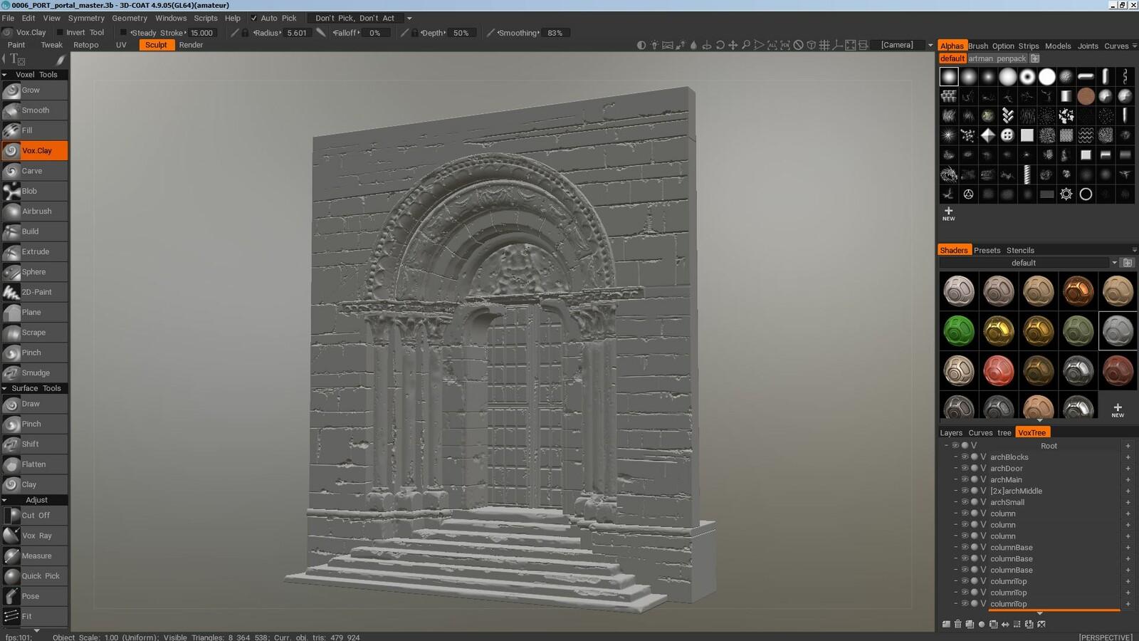 Sculpt sketch in 3DCoat