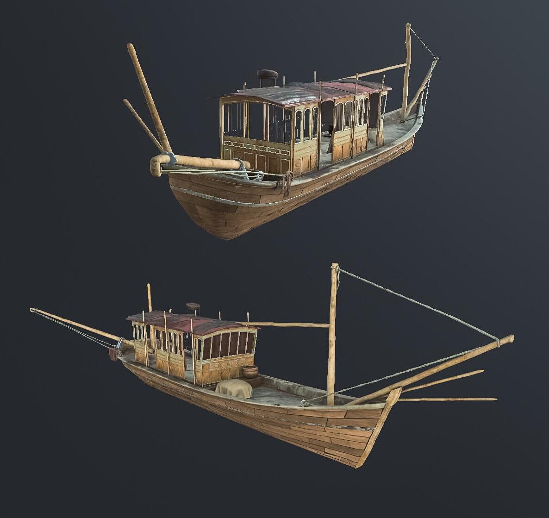 Boat model  made in Blender/Substance Painter