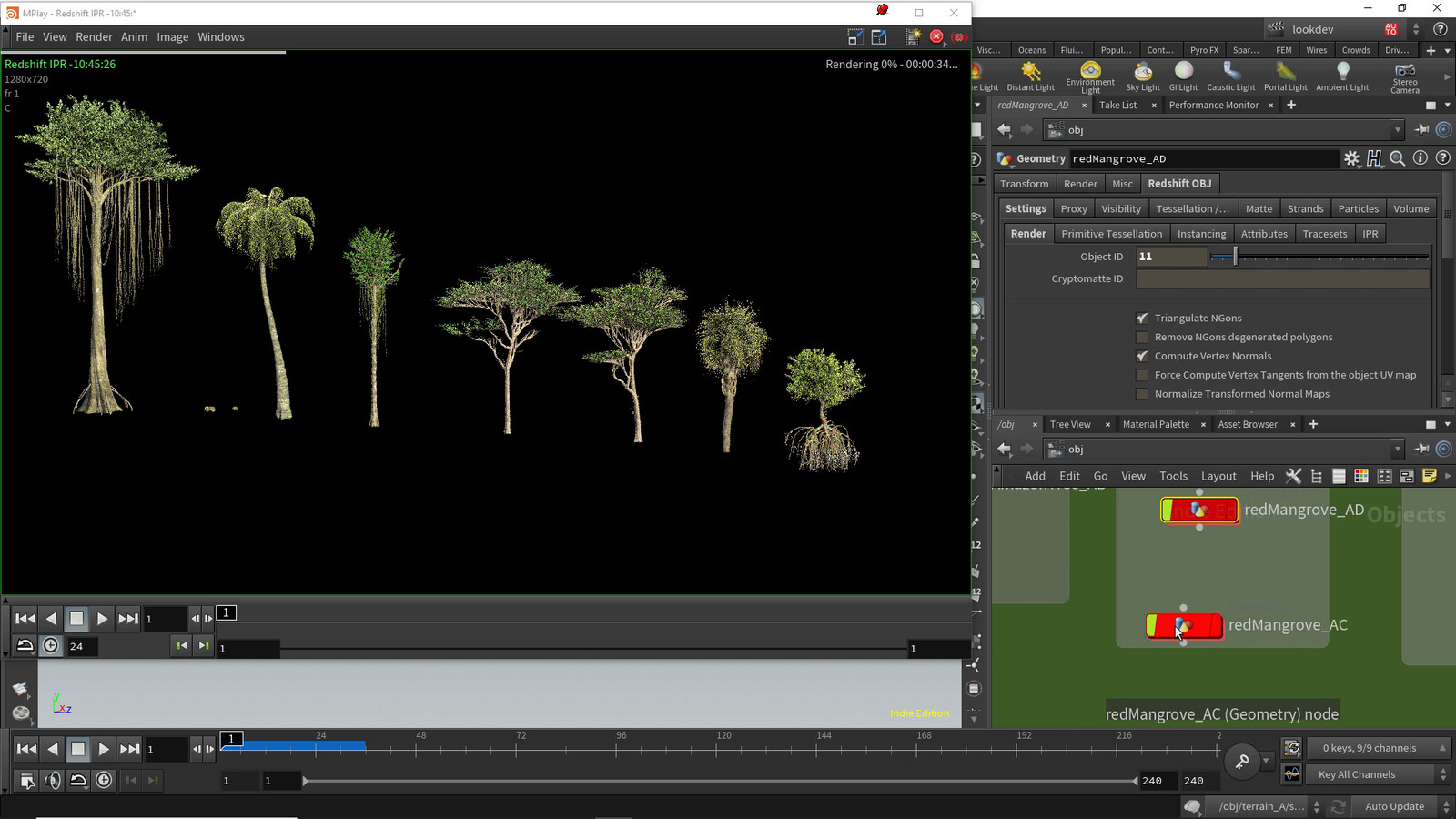 Trees made in speedtree
