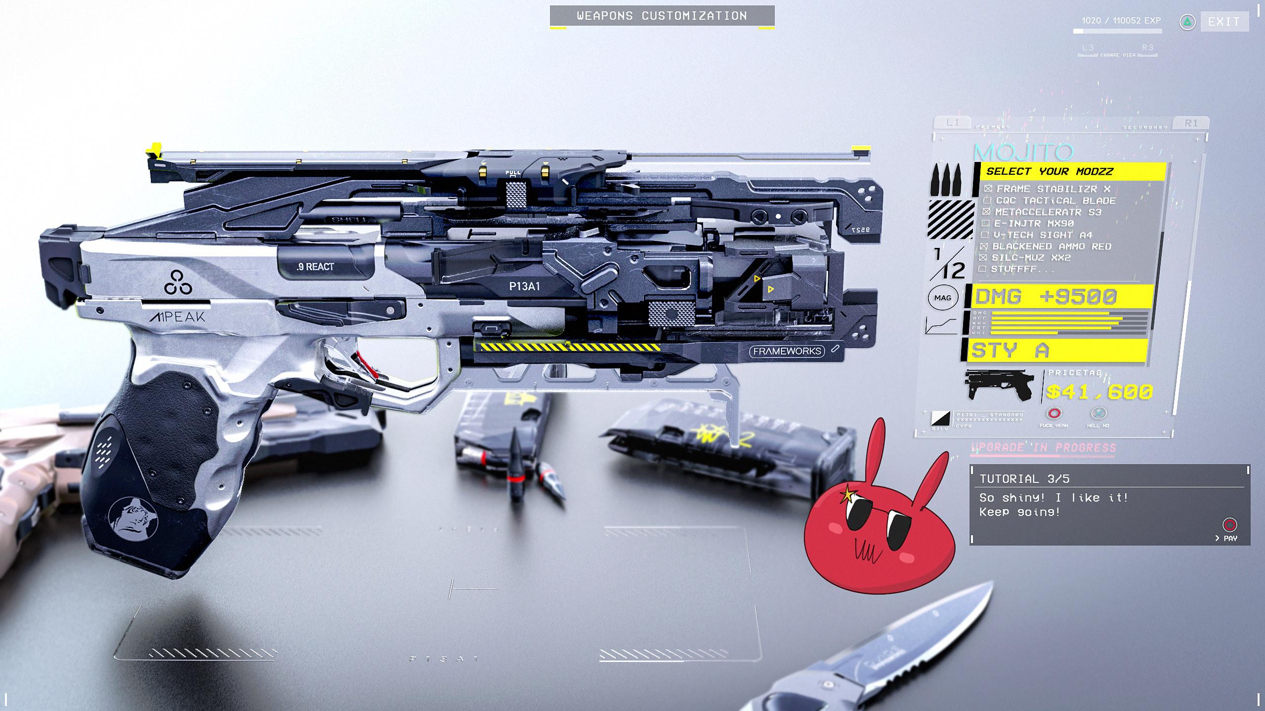 Gun customization. Step 3