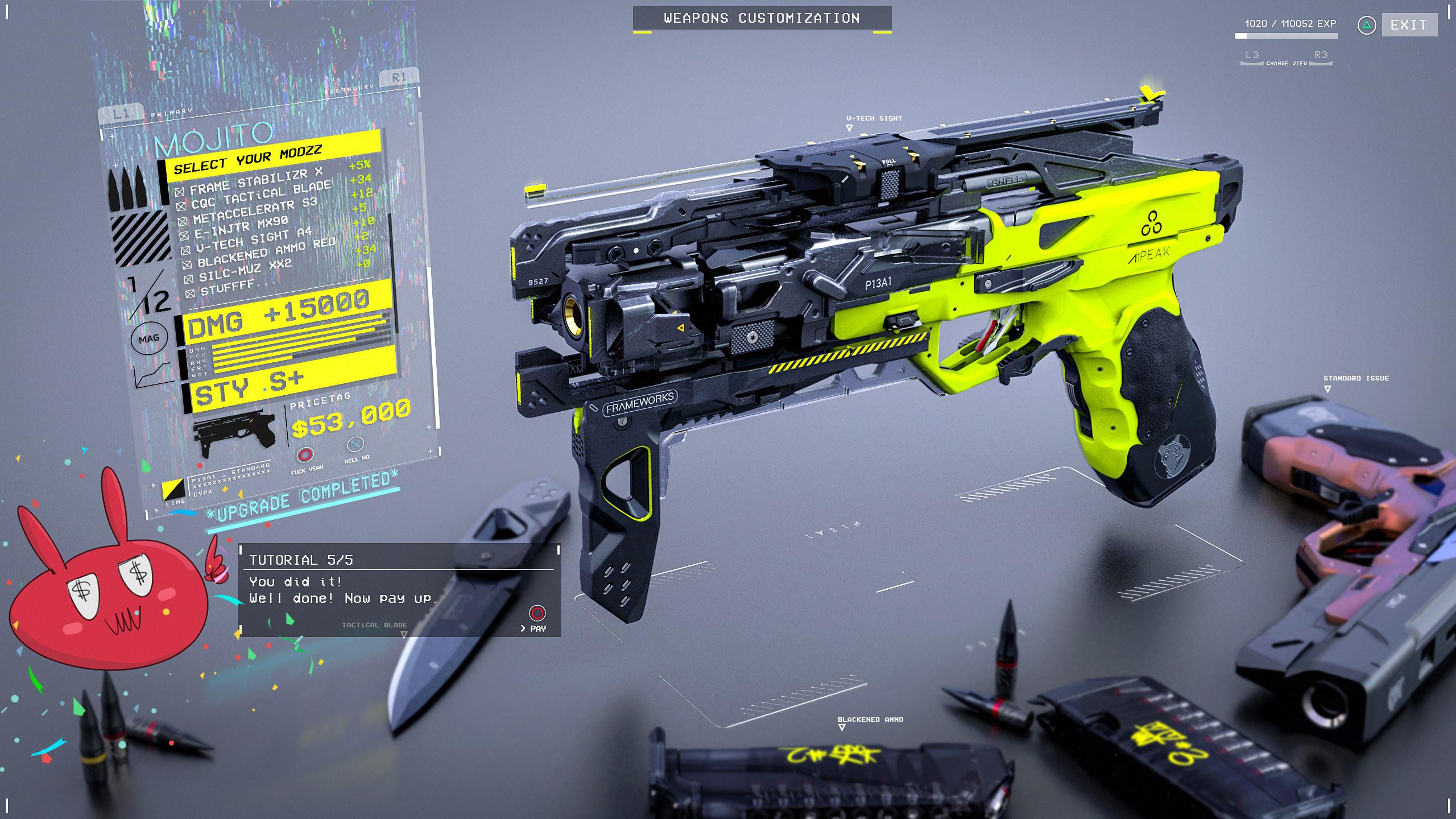 Gun customization. Step 5 - Done!