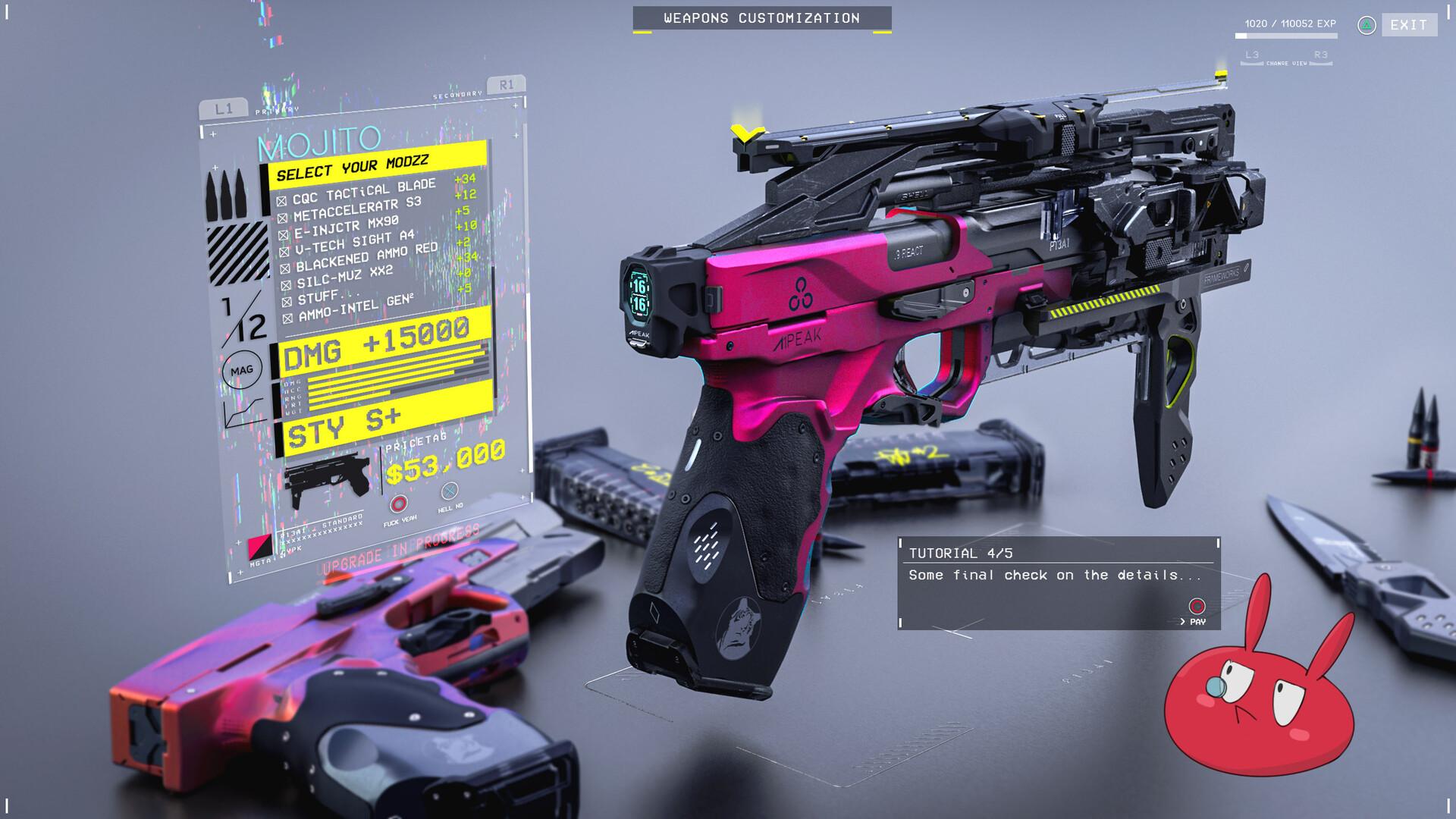 Gun customization. Step 4