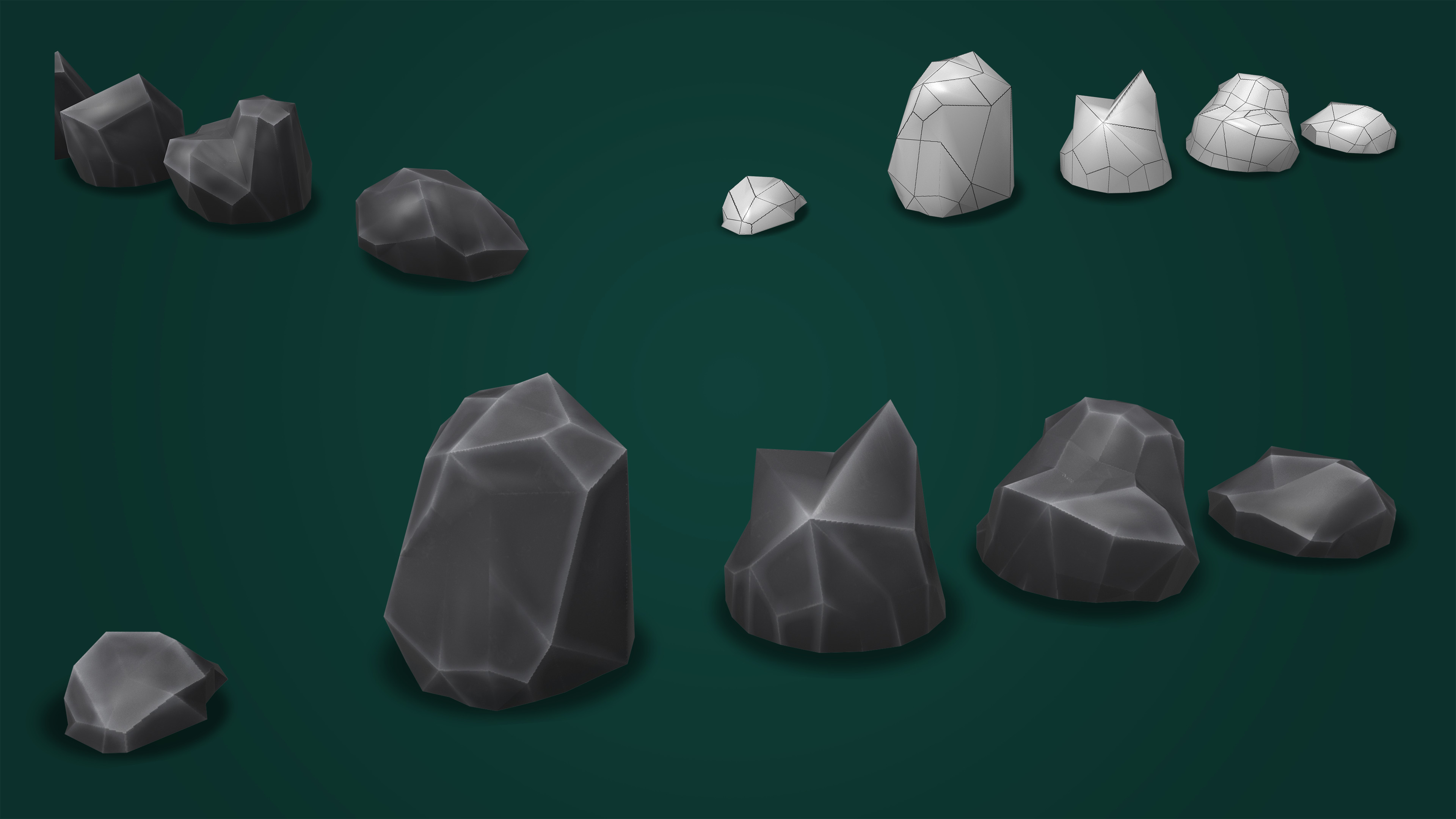 Low-Poly Rocks.
